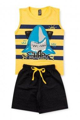 amarelo pretro shark