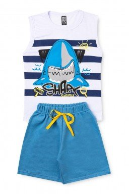 branco e azul shark
